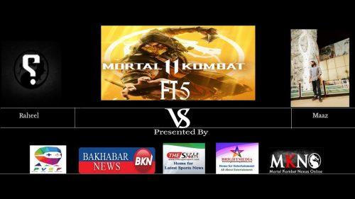 Mortal Kombat 11 FT5 Raheel Noob vs Maaz Skarlet PVGF Pakistan Esports