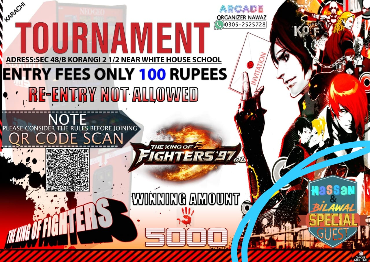 The King Of Fighters 97 Tournament Host By Nawaz Arcade Pvgf
